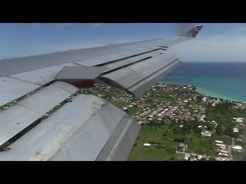 Virgin Atlantic B747 Landing Barbados