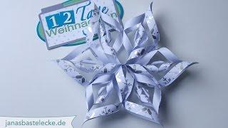 12 Tage Weihnachten 2014 - 3D-Papier-Schneeflocke