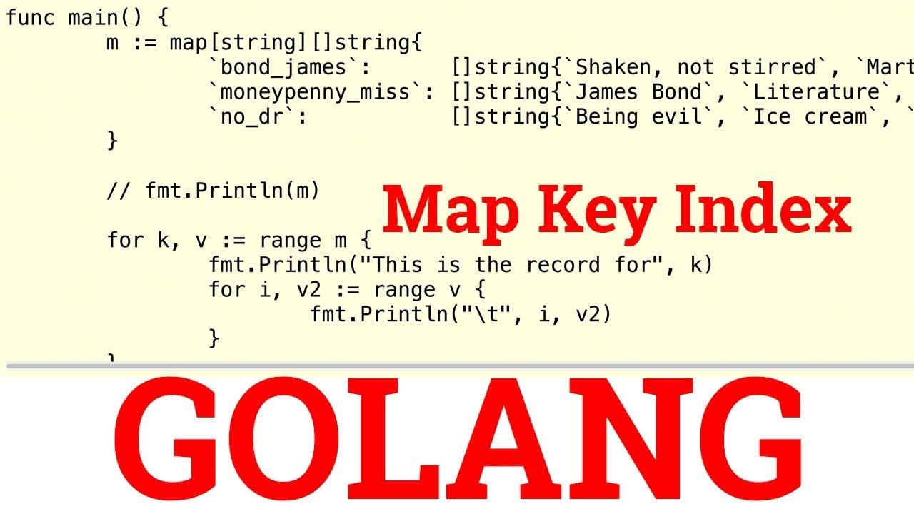 Golang Map Keys Hands On Golang Exercise   Map Key Index   YouTube