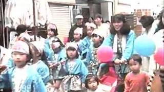 1991年5月18日に行われた大日商店街神戸まつりパレード.
