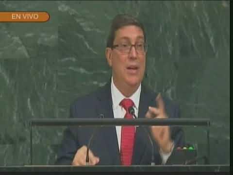Intervención del canciller cubano, Bruno Rodríguez, en 72 Asamblea General de Naciones Unidas