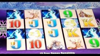 Max Bet BIG Win on Timberwolf Slot Bonus Retrigger!