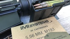5.56x45mm, 55gr FMJ, M193 IMI Systems, Velocity and Accuracy Test