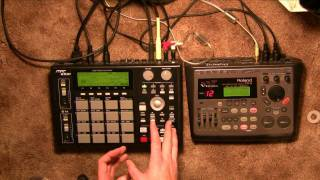 MPC 1000 Tutorial sequence drums using audio through function in JJ OS 1