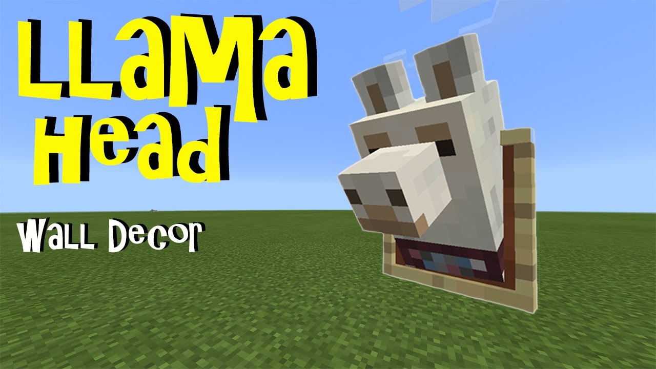 Llama Head Wall Decor No Mods No Addons No Commands