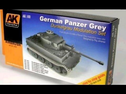 AK-Interactive German Tank Grey Color Modulation in Action