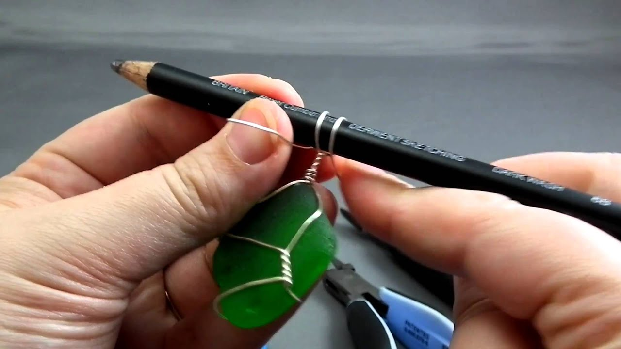 How to wire wrap beach glass the easy way youtube youtube premium solutioingenieria Images