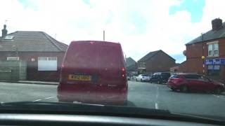 W812UBO impeding traffic BRAKE CHECK thick old woman Pinxton idiot driver smidgaf near miss