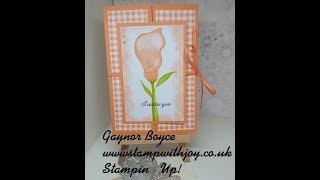 Lasting Lily Gate fold Card Stampin' Up! thumbnail
