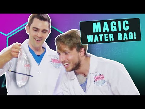 MAGIC WATER BAG EXPERIMENT! (Smosh Lab)