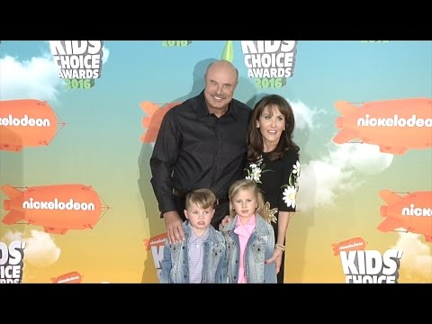 Dr. Phil McGraw and Family at Kids' Choice Awards Orange Carpet Arrivals jpg