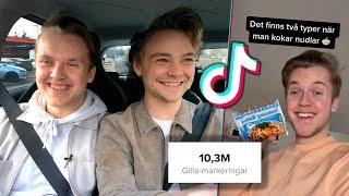 Reagerar på TikTok med Sveriges största TikTokare