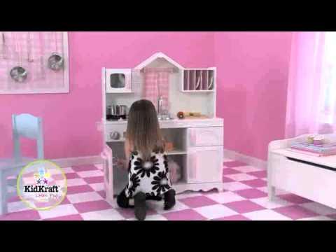 KidKraft Moderne Bauernküche 53222 - YouTube | {Küchenzeile pink 28}