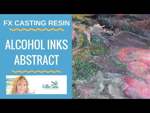 How to Create an Alcohol Ink Abstract FX Casting Resin | Countertop Epoxy