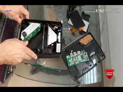 Egate i9 led projector how to dismantle and clean dust in projector
