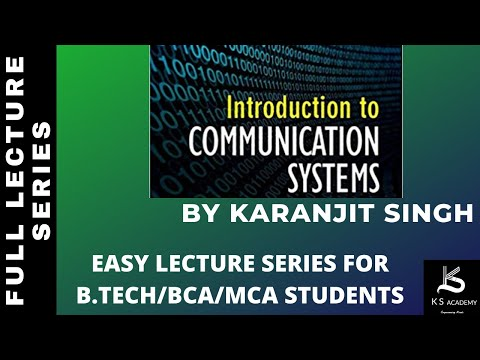 Introduction To Communication System||BTech||4Th Sem||Communication System||Lect 1