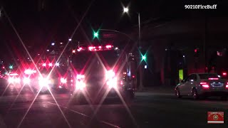 LAFD Major Response: Engine 58 (spare), Task Force 61, Rescue 58 (spare), and Rescue 858