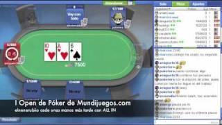Final de Poker Texas Hold'em Mundijuegos.com