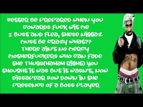 2Pac Ft. Snoop Dogg-2 Of Americas Most Wanted(Lyrics)