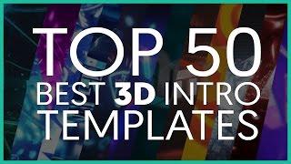 TOP 50 BEST 3D INTRO TEMPLATES (Cinema 4D)