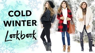 Cold Weather Winter Lookbook | Snow Day Outfit Ideas | Miss Louie