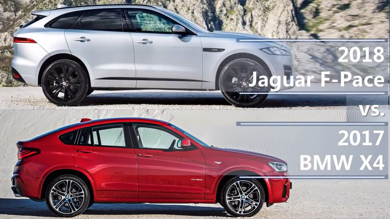 2018 jaguar f pace vs 2017 bmw x4 technical comparison youtube. Black Bedroom Furniture Sets. Home Design Ideas