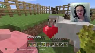 Minecraft PS4 Pro. Большая ферма животных.