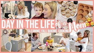 *NEW* DAY IN THE LIFE OF A STAY AT HOME MOM | FALL CLEAN WITH ME, COOK W/ ME + PUMPKIN MUFFIN RECIPE