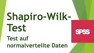Shapiro-Wilk-Test in SPSS - Test auf Normalverteilung der Daten - Daten analysieren in SPSS (33)