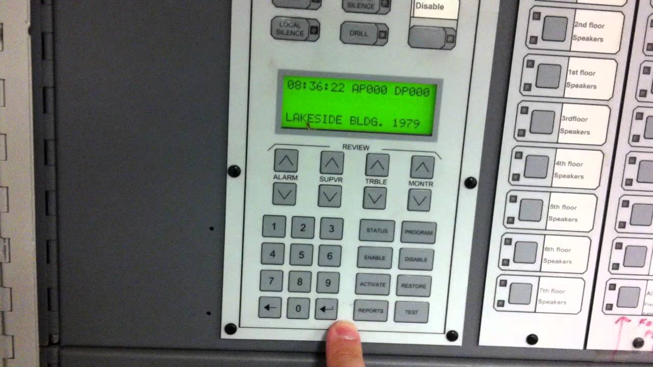 how to clear history buffer on the est2 mirtone2 fire alarm panel youtube [ 1280 x 720 Pixel ]