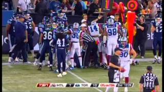nicolas boulay lb 52 montreal alouettes forced fumble and recovery nov 1 2013