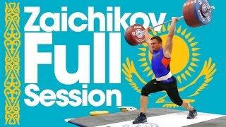 Alexandr Zaichikov Full Session 180kg Snatch 220kg C&J 250kg Front Squat 2015 Worlds