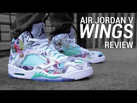 timeless design 4def5 8bd3f Air Jordan 5 Wings Review & On Feet - YouTube