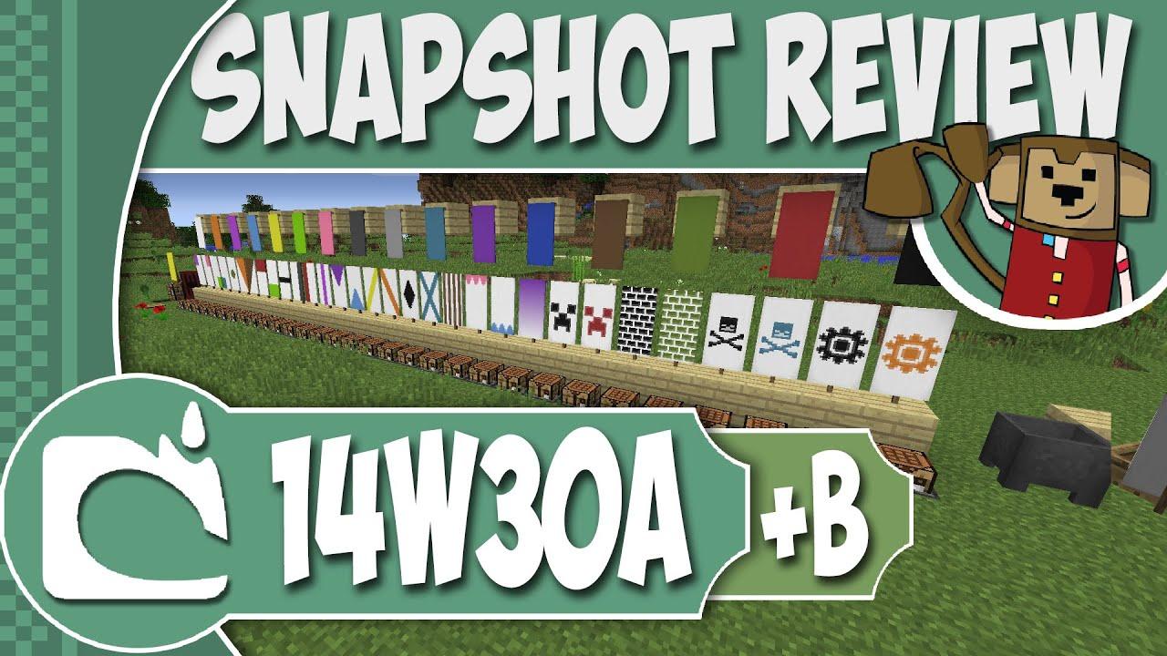 Minecraft Snapshot 14w30a B All Banner Patterns Mob Head Drops