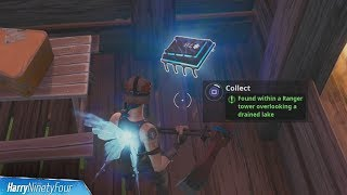 Fortbyte #78: Found Within a Ranger Tower Overlooking a Drained Lake Location - Fortnite