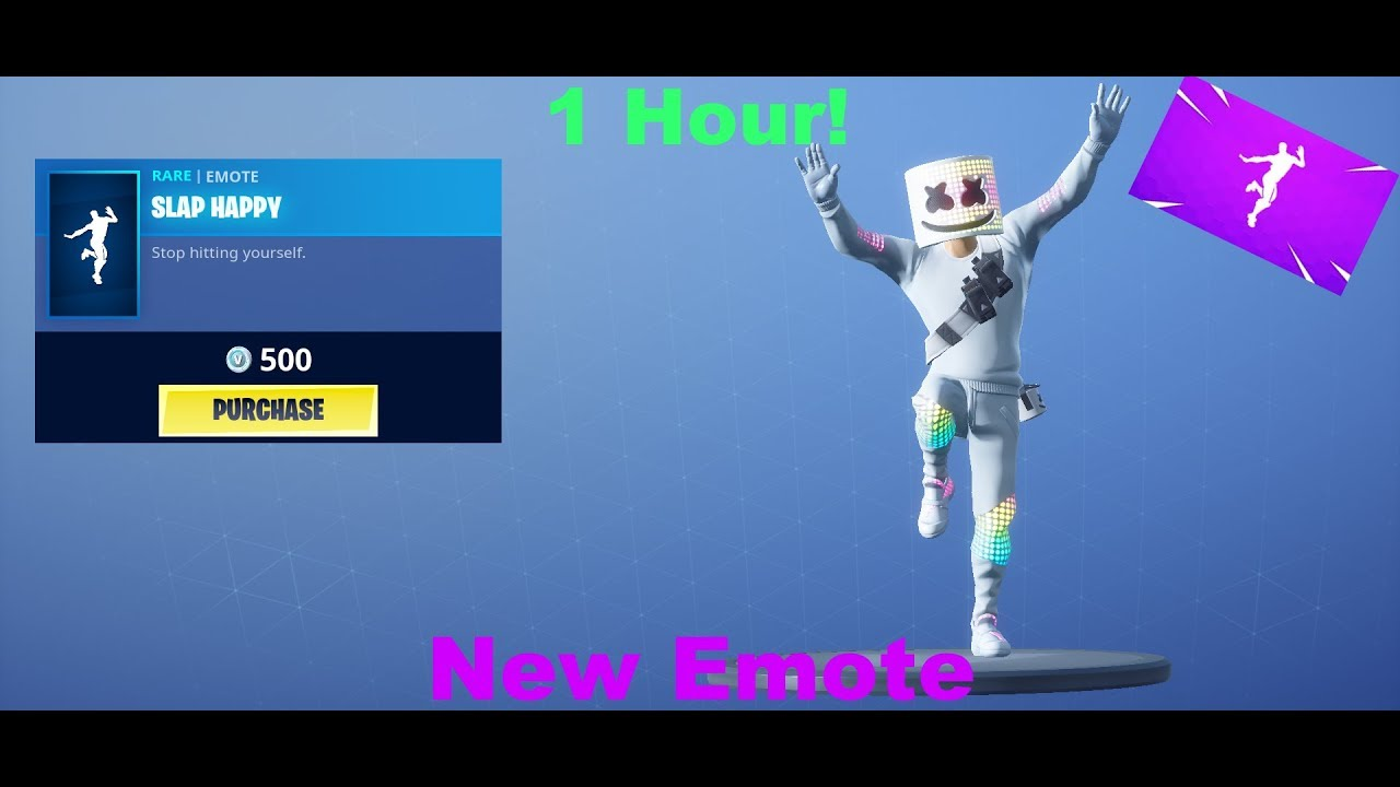 New Fortnite Slap Happy Emote 1 Hour Youtube