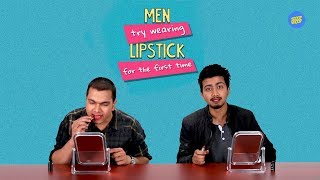 Ok Tested: Men Try Wearing Lipstick For The First Time