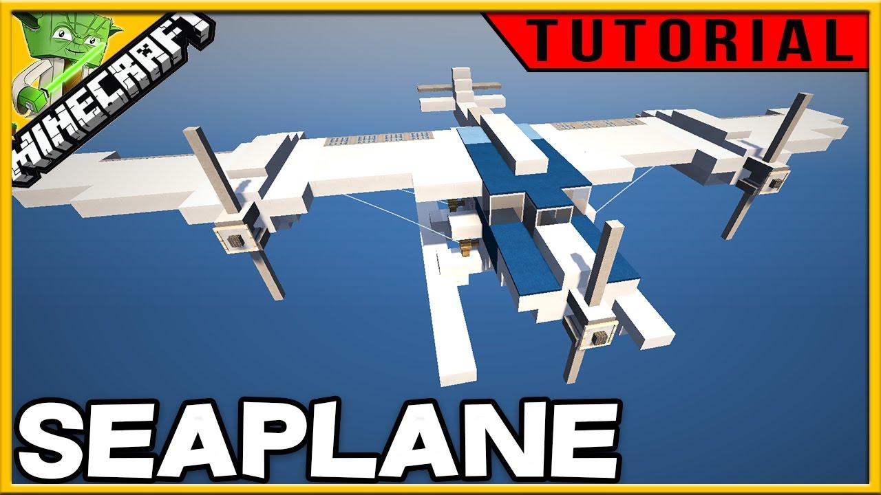 Minecraft Creative Tips Tricks: Minecraft Seaplane Tutorial