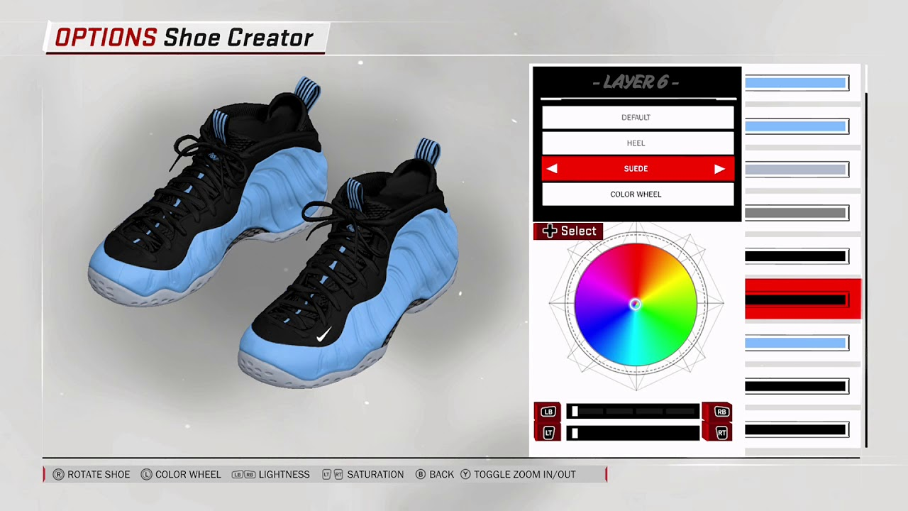 Nba 2K18 Zapato Nike Youtube Foamposite One Creador De Youtube Nike Universidad Azul a10884