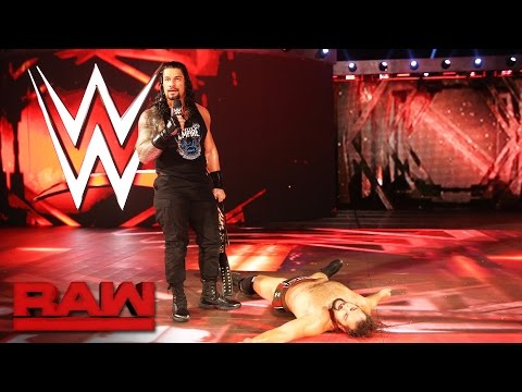 Thumbnail: Roman Reigns and Rusev agree to meet inside Hell in a Cell: Raw, Oct. 3, 2016