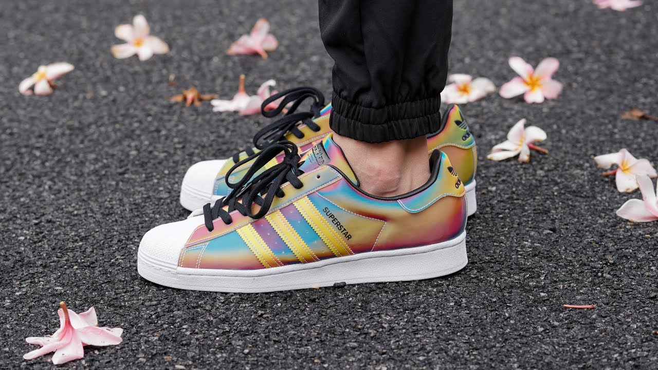 adidas superstar rainbow sole