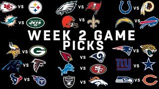 Week 2 NFL Game Picks | NFL