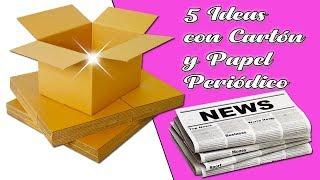 5 Ideas con cartón y papel periódico (Reciclaje) Ecobrisa