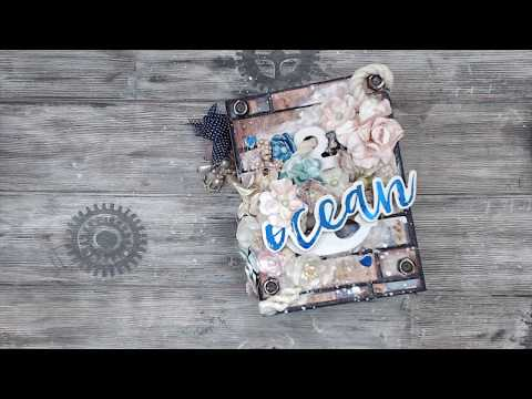 PRIMA ST. TROPEZ MIXED MEDIA MINI ALBUM | TUTORIAL | PART 1/3