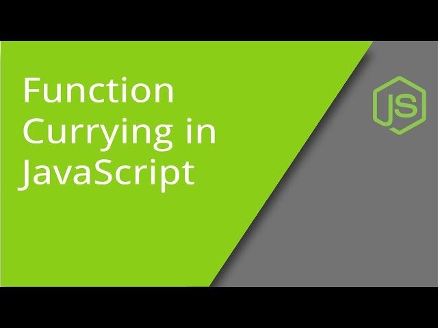 JavaScript Function Currying