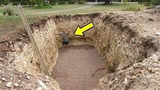 Когда он выкопал эту яму, соседи подумали, что он сошел с ума, а теперь завидуют!