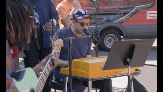 """EXCLUSIVE: Gorillaz Street Performance of """"On Melancholy Hill"""""""