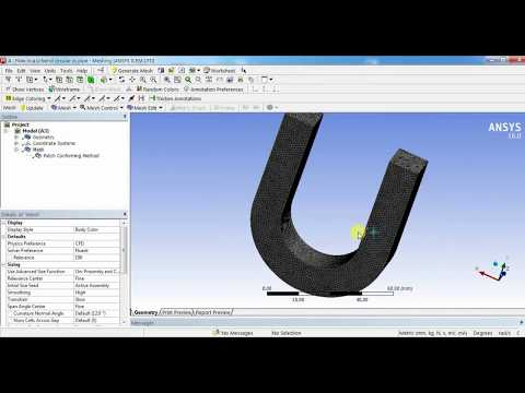 ANSYS Fluent Tutorial For Begineers :Flow in a U-Bend