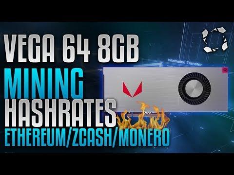 AMD Vega 64 8GB Crypto Mining Benchmarks: ETH/ZEC/XMR
