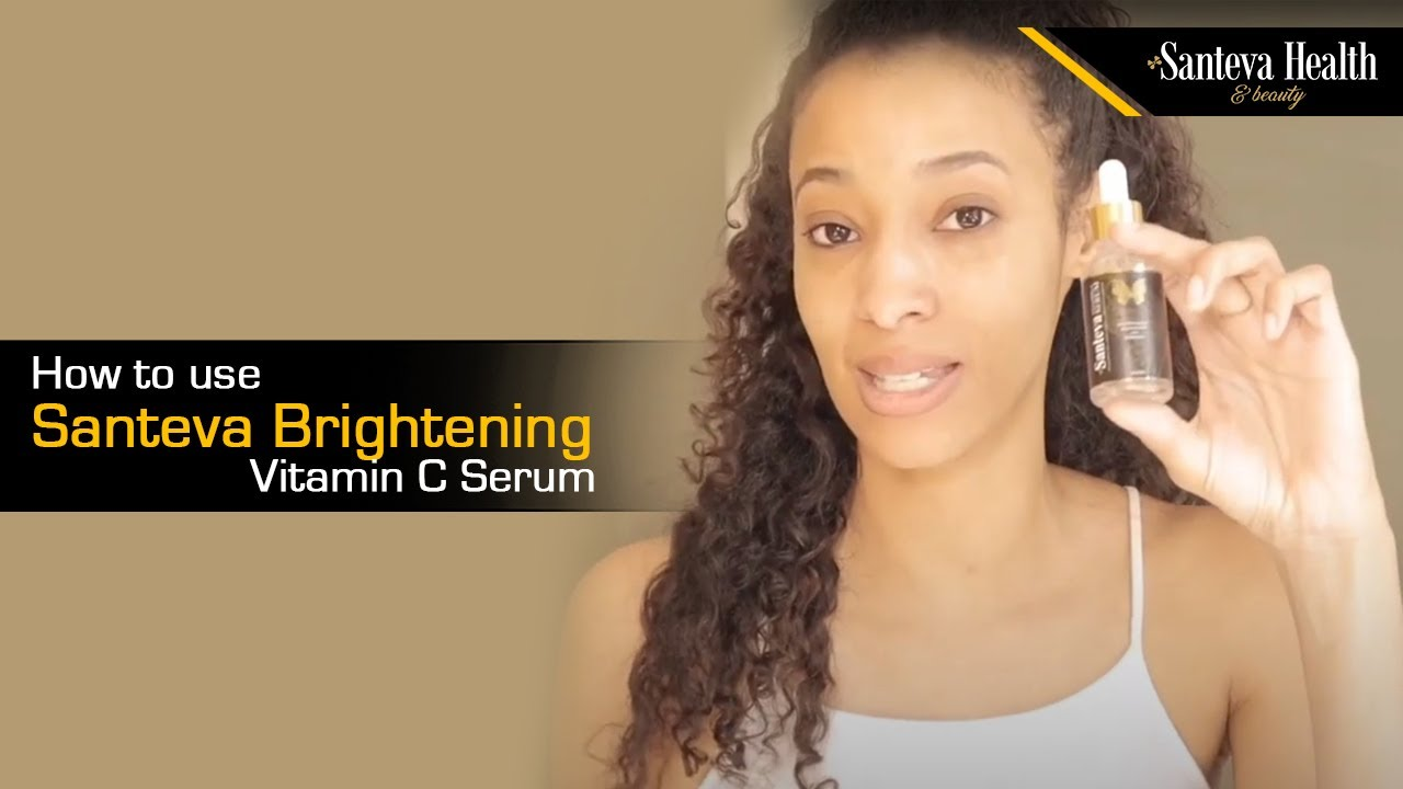 How to use Santeva Brightening Vitamin C Serum